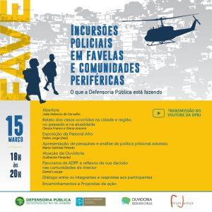 [Seminário] Incursões Policiais em Favelas e Comunidades Periféricas